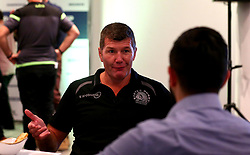 Exeter Chiefs Director of Rugby Rob Baxter is interviewed at the Aviva Premiership Rugby 2017/18 season launch - Mandatory by-line: Robbie Stephenson/JMP - 24/08/2017 - RUGBY - Twickenham - London, England - Premiership Rugby Launch