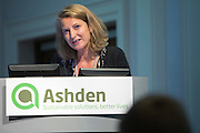 Sarah Butler Sloss, CEO fo Ashden closes the Ashden 2016 International Conference:  Moving up the energy ladder: How can we amplify electricity access? <br /> Held at the RCN, London. UK.