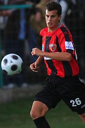 Jan Vidic (26) of Primorje at 12th Round of PrvaLiga Telekom Slovenije between NK Primorje vs NK Nafta Lendava, on October 5, 2008, in Town stadium in Ajdovscina. Nafta won the match 2:1. (Photo by Vid Ponikvar / Sportal Images)