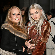 Gabriella Melrose (R) attend Indonesian Fashion Showcase - Jera at Fashion Scout London Fashion Week AW19 on 16 Feb 2019, at Freemasons' Hall, London, UK.