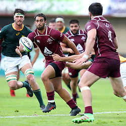 Lasha Lomidze of Georgia during the U20 World Championship match between South Africa and Georgia on May 30, 2018 in Perpignan, France. (Photo by Manuel Blondeau/Icon Sport)