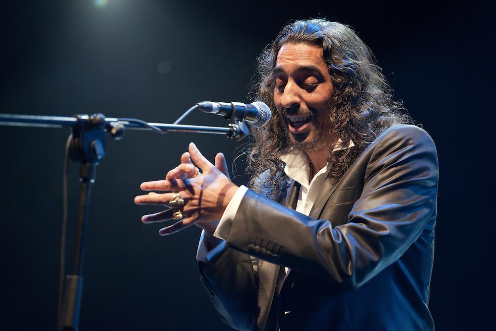 """El cantaor de flamenco Diego Ramón Jiménez Salazar, """"El Cigala""""."""