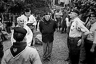 Meeting of Italian Fascists during which a mass is given in honor of fascist soldiers died during World War II..