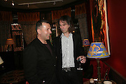 Vicente Todoli and Ivor Braka, Party for Jean Pigozzi hosted by Ivor Braka to thank him for the loan exhibition 'Popular Painting' from Kinshasa'  at Tate Modern. Cadogan sq. London. 29 May 2007.  -DO NOT ARCHIVE-© Copyright Photograph by Dafydd Jones. 248 Clapham Rd. London SW9 0PZ. Tel 0207 820 0771. www.dafjones.com.