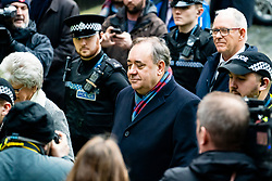 Edinburgh, Scotland, UK. 22 January, 2020. Alex Salmond leaves the High Court in Edinburgh after a preliminary trial hearing. Iain Masterton/Alamy Live News.