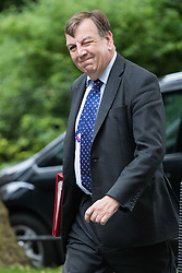 Downing Street, London, June 14th 2016. Culture, Media and Sport Secretary John Whittingdale arrives at 10 Downing Street to attend the weekly cabinet meeting.