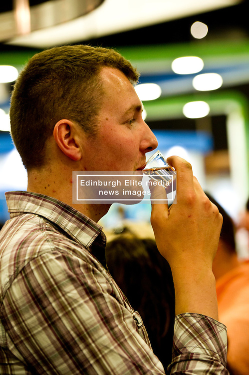 Pictures: Ewan Pate enjoyed his sample of whisky<br /> <br />  The crowds gathered at the Royal Highland Show today as all things farming were on display. The sunshine and showers weather did not disuade visitors  to open their wallets and purses as they toured the 4,000 stands available<br /> <br /> Ger Harley: Edinburgh Elite media