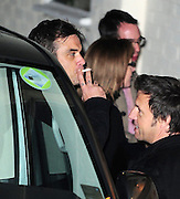 14.NOVEMBER.2010. LONDON<br /> <br /> ROBBIE WILLIAMS FROM TAKE THAT OUTSIDE FOUNTAIN STUDIOS IN WEMBLEY SMOKING A CIGARETTE AFTER PERFORMING ON THE SUNDAY NIGHT RESULTS SHOW.<br /> <br /> BYLINE: EDBIMAGEARCHIVE.COM<br /> <br /> *THIS IMAGE IS STRICTLY FOR UK NEWSPAPERS AND MAGAZINES ONLY*<br /> *FOR WORLD WIDE SALES AND WEB USE PLEASE CONTACT EDBIMAGEARCHIVE - 0208 954 5968*