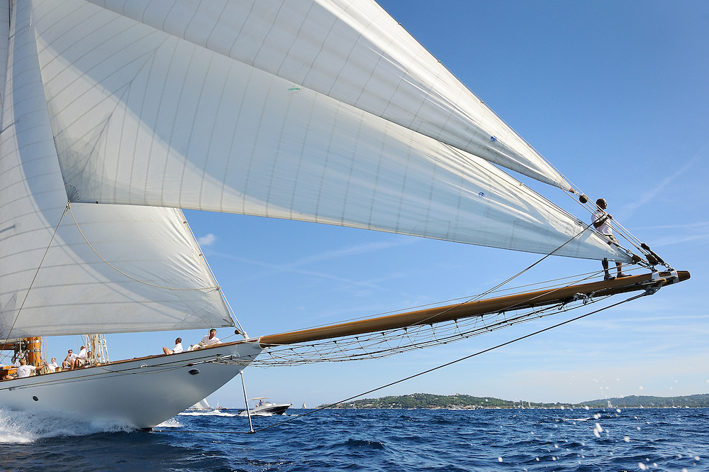 France Saint - Tropez October 2013, Classic Yachts racing at the Voiles de Saint - Tropez<br /> C,A9,ELENA OF LONDON,&quot;50,8&quot;,GOELETTE AURIQUE/2009,HERRESHOFF