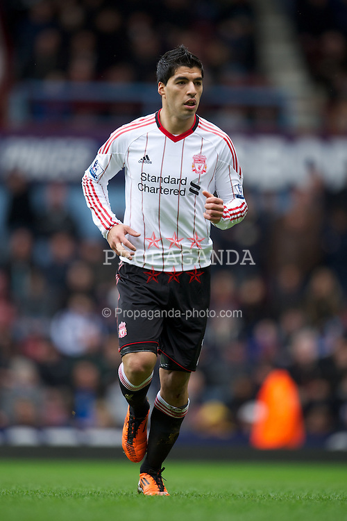 LONDON, ENGLAND - Sunday, February 27, 2011: Liverpool's Luis Alberto Suarez Diaz in action against West Ham United during the Premiership match at Upton Park. (Photo by David Rawcliffe/Propaganda)