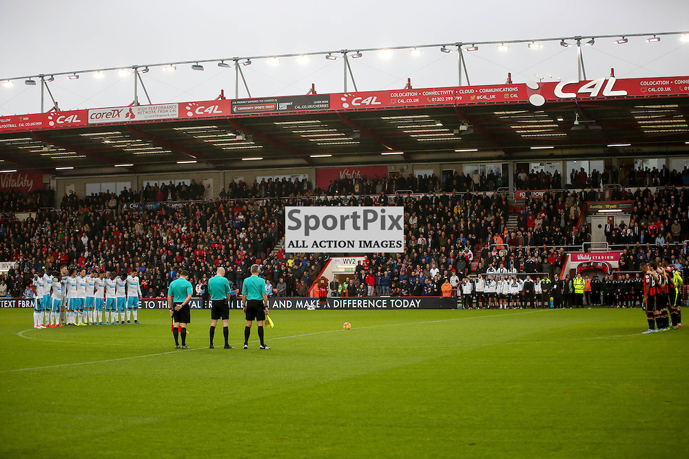 Minute silence During AFC Bournemouth vs Newcastle United on Saturday the 7th November 2015.