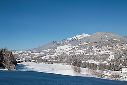 13.02.2013, Langlaufzentrum Lago di Tesero, Val di Fiemme, ITA, FIS Weltmeisterschaften Ski Nordisch, im Bild Uebersicht des Langlaufzentrums Lago di Tesero //  panoramic of Val di Fiemme seen from Cross Country stadium of FIS Nordic Ski World Championships 2013 at the Cross Country Stadium, Cross Country Centre Lago di Tesero, Val di Fiemme, Italy on 2013/02/13. EXPA Pictures © 2013, PhotoCredit: EXPA/ Federico Modica