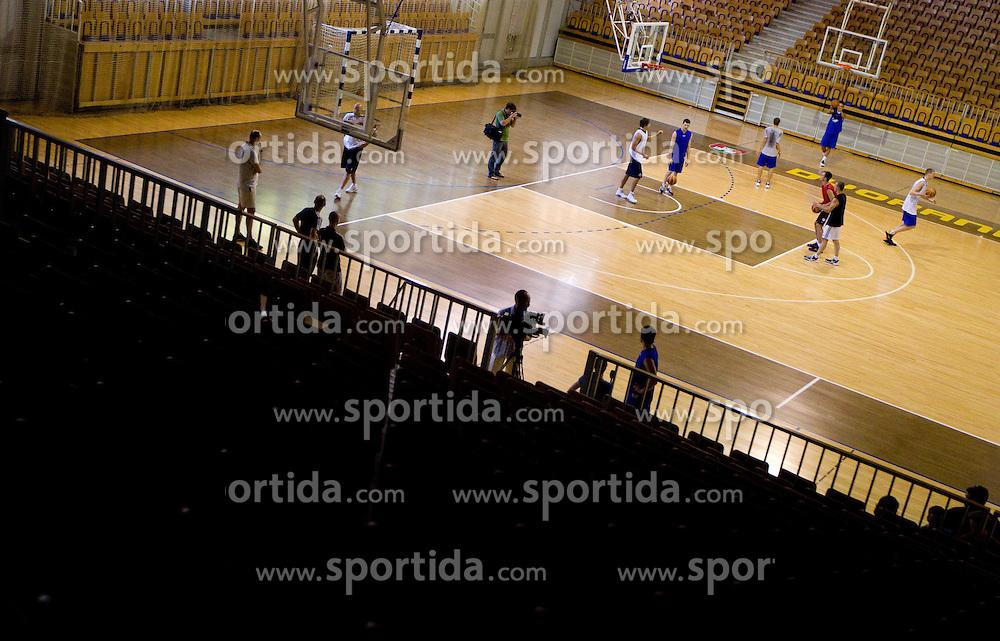 First practice session of KK Union Olimpija in new season 2010/2011 on August 23, 2010, in Arena Tivoli, Ljubljana, Slovenia.  (Photo by Vid Ponikvar / Sportida)