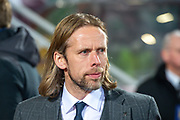 Heart of Midlothian caretaker manager Austin MacPhee before the Ladbrokes Scottish Premiership match between Heart of Midlothian FC and Livingston FC at Tynecastle Park, Edinburgh, Scotland on 4 December 2019.
