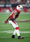 Arizona Cardinals cornerback Patrick Peterson (21) drops back in pass coverage during the NFL NFC Divisional round playoff football game against the Green Bay Packers on Saturday, Jan. 16, 2016 in Glendale, Ariz. The Cardinals won the game in overtime 26-20. (©Paul Anthony Spinelli)