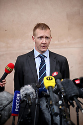 April 25, 2018 - Copenhagen, Denmark - Prosecutor Jacob Buch-Jepsen announces that Peter Madsen is sentenced to life for the murder of Swedish journalist Kim Wall. The trial against Peter Madsen for the murder of Swedish journalist Kim Wall. Copenhagen, Denmark,  2018-04-25..(c) Krister Hansson  / Aftonbladet / IBL BildbyrÃ¥....* * * EXPRESSEN OUT * * *....AFTONBLADET / 3950. (Credit Image: © Aftonbladet/IBL via ZUMA Wire)