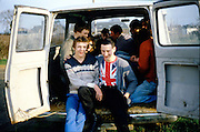 Gavin and Guys in a Van, High Wycombe, UK, 1980s.