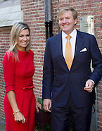King Willem-Alexander and Queen Máxima attended a meeting about China, Leiden 01-10-2015