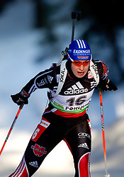Magdalena Neuner of Germany  during the Women 15 km Individual of the e.on IBU Biathlon World Cup on Thursday, December 16, 2010 in Pokljuka, Slovenia. The fourth e.on IBU World Cup stage is taking place in Rudno Polje - Pokljuka, Slovenia until Sunday December 19, 2010.  (Photo By Vid Ponikvar / Sportida.com)