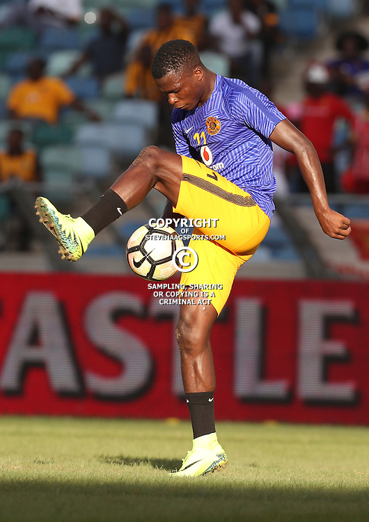 DURBAN, SOUTH AFRICA - FEBRUARY 18: Edmore Chirambadare of Kaizer Chiefs during the Absa Premiership match between Kaizer Chiefs and Highlands Park at Moses Mabhida Stadium on February 18, 2017 in Durban, South Africa. (Photo by Steve Haag/Gallo Images)