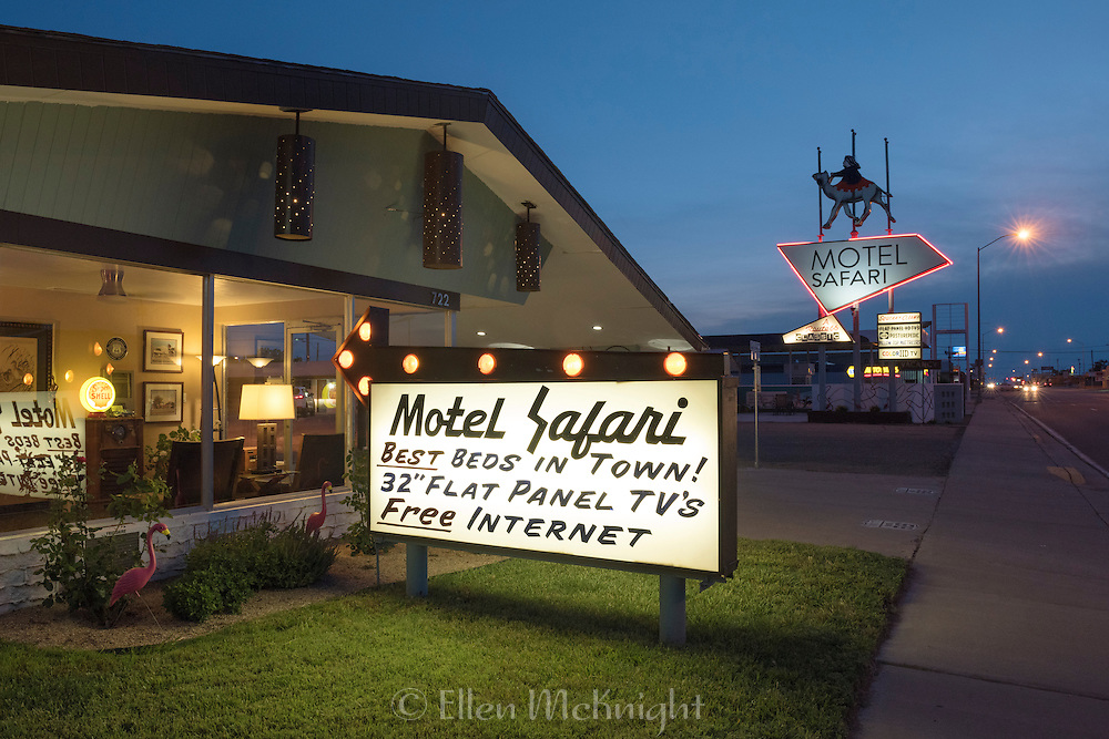 Motel Safari on Route 66 in Tucumcari, New Mexico