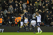 GOAL - Millwall defender Murray Wallace (25) celebrates with Millwall forward Steve Morison (20) 3-2 during the The FA Cup fourth round match between Millwall and Everton at The Den, London, England on 26 January 2019.