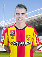 Benjamin BOURIGEAUD - 30.10.2015 - Portrait Officiel - Lens<br /> Photo : RC Lens / Icon Sport