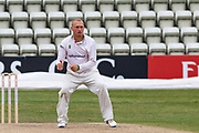 Callum Parkinson bowling during the Bob Willis Trophy match between Lancashire County Cricket Club and Leicestershire County Cricket Club at Blackfinch New Road, Worcester, United Kingdom on 4 August 2020.