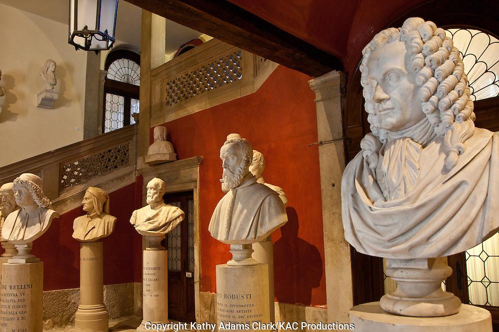 Interior of the Instituto Veneta di Scienze, Lettere ed Arti, on the Campo San Vidal, near the Ponte Accademia, Venice Institute of Science, Letters, and Arts, Venice, Italy,