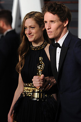 Hannah Bagshawe, Eddie Redmayne in attendance for 2015 Vanity Fair Oscar Party Hosted By Graydon Carter at Wallis Annenberg Center for the Performing Arts on February 22, 2015 in Beverly Hills, California. EXPA Pictures © 2015, PhotoCredit: EXPA/ Photoshot/ Dennis Van Tine<br /> <br /> *****ATTENTION - for AUT, SLO, CRO, SRB, BIH, MAZ only*****