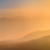 Macgillycuddy's Reeks / Carrauntoohil Sunrise Panorama, County Kerry, Ireland / ba068