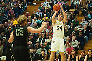 Vermont's Kurt Steidl (24) shoots a three pointer during the men's basketball game between the Dartmouth Big Green and the Vermont Catamounts at Patrick Gym on Wednesday December 7, 2016 in Burlington (BRIAN JENKINS/for the FREE PRESS)