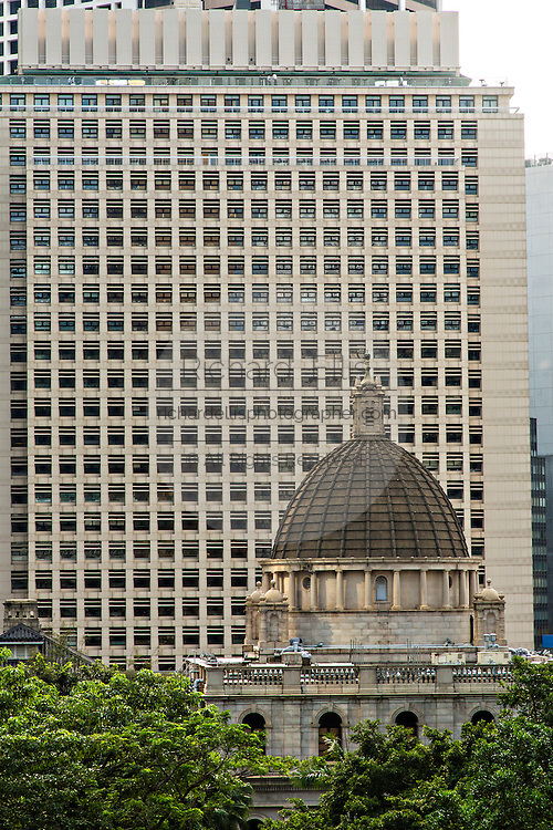 Legislative Council Building dome Central District Hong Kong.