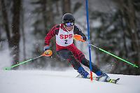 St Paul's School alpine team at the Lakes Region slalom championship Blackwater / Proctor Ski Area.  Karen Bobotas for St Paul's School