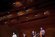 Bobby Luan, Amelia Thornton, Tonio Meade and Tim Cuffman perform a string quartet recital at Ohio University's Robert Glidden Hall in Athens, Ohio on Sunday, December 2, 2012. Photo by Chris Franz