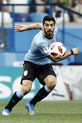 July 6, 2018 - Nizhny Novgorod, Russia - Luis Suarez during 2018 FIFA World Cup Russia Quarter Final match between Uruguay and France at Nizhny Novgorod Stadium on July 6, 2018 in Nizhny Novgorod, Russia. (Credit Image: © Mehdi Taamallah/NurPhoto via ZUMA Press)