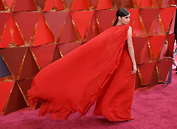 Sofia Carson  walking on the red carpet during the 90th Academy Awards ceremony, presented by the Academy of Motion Picture Arts and Sciences, held at the Dolby Theatre in Hollywood, California on March 4, 2018. (Photo by Sthanlee Mirador/Sipa USA)