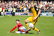 Port Vale defender Nathan Smith in possession of the ball                                           during the EFL Sky Bet League 2 match between Salford City and Port Vale at Moor Lane, Salford, United Kingdom on 17 August 2019.