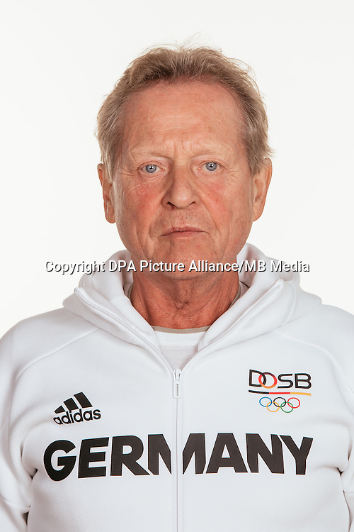 Klaus Eder poses at a photocall during the preparations for the Olympic Games in Rio at the Emmich Cambrai Barracks in Hanover, Germany, taken on 12/07/16 | usage worldwide