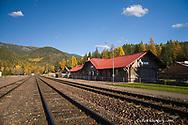 Historic Belton Train Depot located in West Glacier Montana