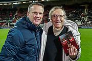 Kristan Nygaard met coach John van den Brom of AZ Alkmaar