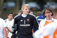 AERDENHOUT - 07-04-2012 -Berend van Eldonk, zaterdag tijdens de wedstrijd tussen Nederland Jongens A en Engeland Jongens A (3-4), tijdens het Volvo 4-Nations Tournament op de velden van Rood-Wit in Aerdenhout.