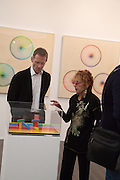 SIR NICHOLAS SEROTA; JUDY CHICAGO, Opening of Frieze Masters. Regent's Park. London. 15 October 2013.