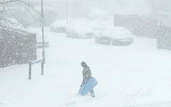 Beast From The East, 28th February 2018<br /> <br /> People try and make their way around during the Red Snow Warning in central Scotland<br /> <br /> Alex Todd | EEm