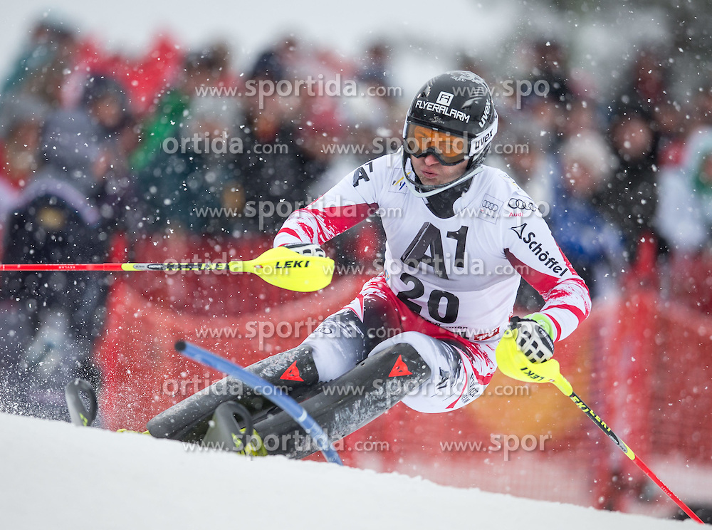 25.01.2015, Streif, Kitzbuehel, AUT, FIS Ski Weltcup, Slalom, Herren, 1. Lauf, im Bild Reinfried Herbst (AUT) // Reinfried Herbst of Austria in action during 1st run of the men's Slalom of Kitzbuehel FIS Ski Alpine World Cup at the Streif Course in Kitzbuehel, Austria on 2015/01/25. EXPA Pictures © 2015, PhotoCredit: EXPA/ Johann Groder