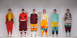 © Licensed to London News Pictures. 01/06/2015. London, UK. Collection by Ella Nisbett. Fashion show of Nottingham Trent University at Graduate Fashion Week 2015. Graduate Fashion Week takes place from 30 May to 2 June 2015 at the Old Truman Brewery, Brick Lane. Photo credit : Bettina Strenske/LNP