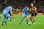 Hull City midfielder Sam Clucas (11) and Wolverhampton Wanderers midfielder Ruben Neves (8) during the EFL Sky Bet Championship match between Hull City and Wolverhampton Wanderers at the KCOM Stadium, Kingston upon Hull, England on 15 August 2017. Photo by Ian Lyall.