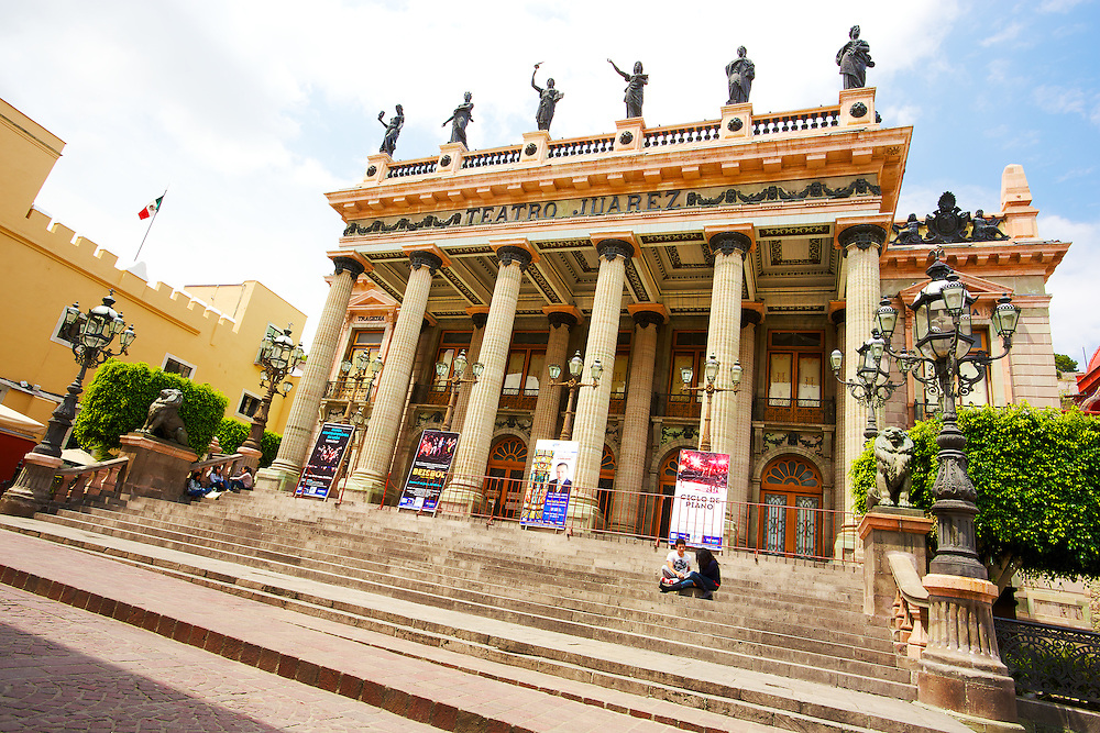Teatro Juarez in Guanajuato, México