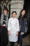 HELENA RIZZO; ELENA ARZAK; LANSHU CHEN; , Veuve Clicquot World's Best Female chef champagne tea party. Halkin Hotel. Halkin St. London SW1. 28 April 2014.