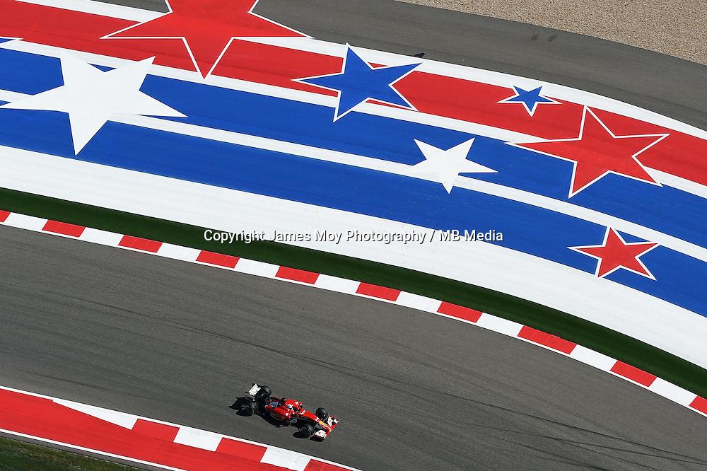Fernando Alonso (ESP) Ferrari F14-T.<br /> United States Grand Prix, Saturday 1st November 2014. Circuit of the Americas, Austin, Texas, USA.